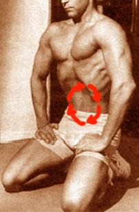 последовательность напряжения мышц живота